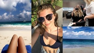 WEEKLY VLOG - dying my hair blonde & traveling to the Bahamas l Olivia Jade