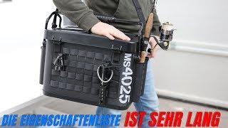 Premium-Angeltaschen Transportlösung mit modularen Erweiterungsmöglichkeiten mit 4 x Rutenhaltern