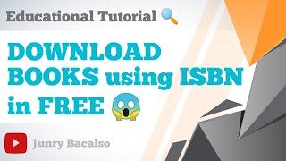 HOW TO DOWNLOAD BOOKS in FREE 2020 using ISBN
