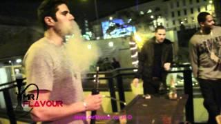 Drake smoking a Mr Flavour cocktail shisha!