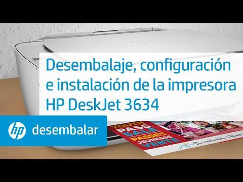 Desembalaje, configuración e instalación de la impresora HP DeskJet 3634