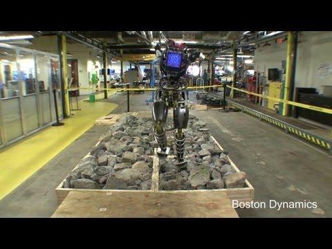Boston Dynamics - Atlas Robot Rocky Terrain & Balancing Tests Update [720p]