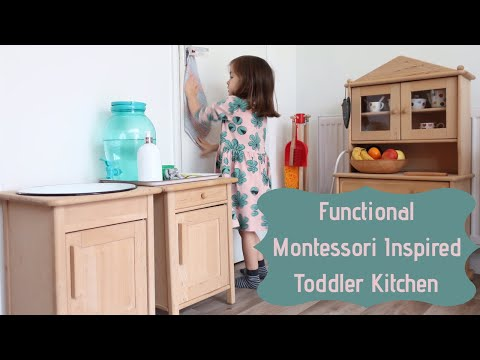 Montessori Inspired Toddler Kitchen