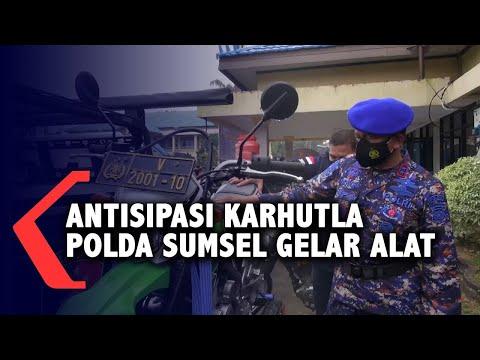 Antisipasi Karhutla Polda Sumsel Gelar Alat