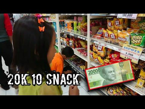 Challenge Belanja 10 Snack Hanya Dengan 20k