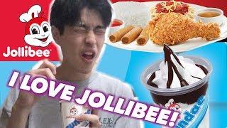 JOLLIBEE MUKBANG!!! (JAPANESE EATS JOLLIBEE!)