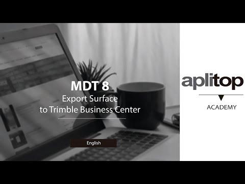 MDT8 Export Surface to Trimble Business Center