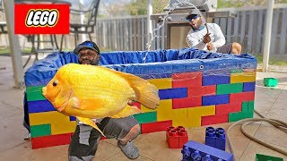 NEW Giant LEGO Fish POND!!! DIY