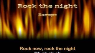 Europe -Rock the night (karaoke) 1986