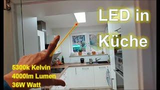 Wieviel Lumen Kelvin braucht ein LED Panel Deckenleuchte : ≧ 5000K ≧ 4000lm ≧ 36Watt tageslicht