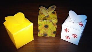 Lindas Caixinhas De Papel Para Lembranças - DIY - Beautiful Paper Boxes For Souvenirs