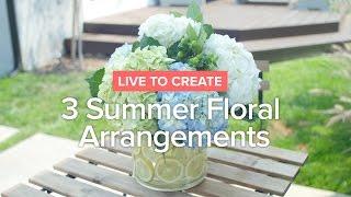 3 Cara Cantik & Mudah Merangkai Bunga Untuk Menghias Meja