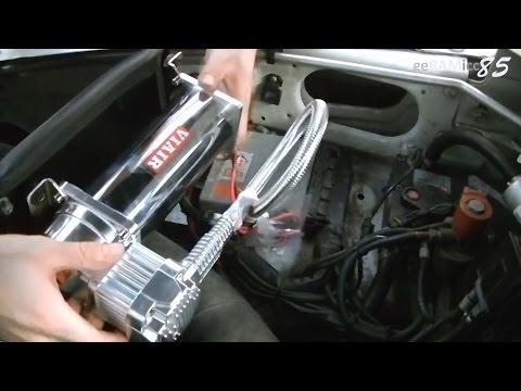 DRUCKLUFT KOMPRESSOR AUTO EINBAU+VERKABELN | 12V VIAIR IM PICKUP/SUV/JEEP INSTALLIEREN+ANSCHLIEßEN