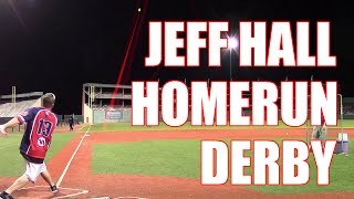 Jeff Hall Dropping MASSIVE BOMBS In A Homerun Derby With BALL FLIGHT TRACKER!