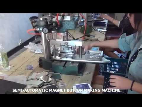 Magnet button producing<br />