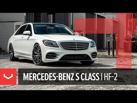 Vossen Hybrid Forged HF-2 Wheel | Mercedes-Benz S Class | Brushed Gloss Black