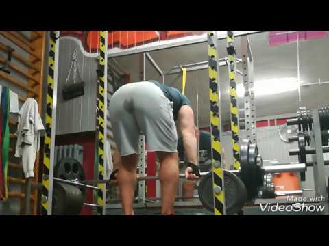 Dead stop rack rows - fortitude training inspired cluster set 110kg