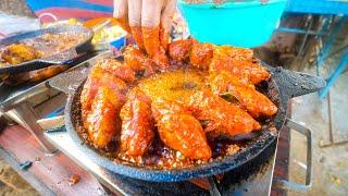 Indian Street Food in Kerala - SPICY MUSSELS MASALA + Chili Soda!!   Kannur, India!