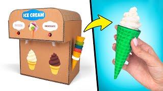 DIY Double Ice Cream Machine From Cardboard🍦