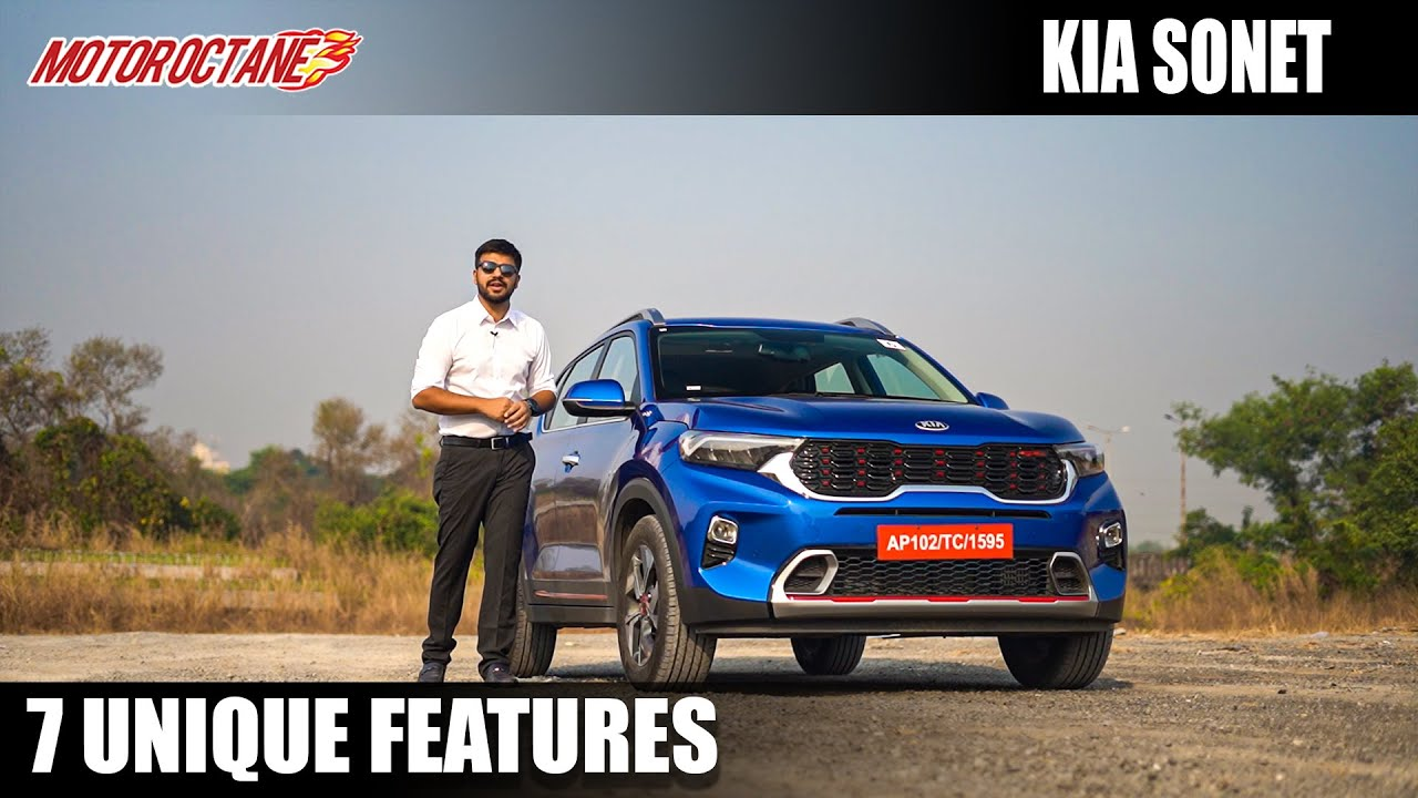 Motoroctane Youtube Video - Kia Sonet - 7 Unique Features   Hindi   MotorOctane