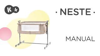 Kinderkraft Neste 2in1 szülői ágyhoz csatlakoztatható Kiságy #sötétszürke