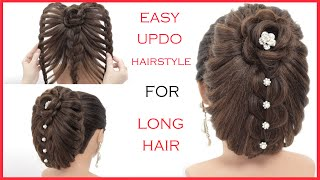 Easy Bridal Hairstyle For Long Hair || New Braided Updo Tutorial