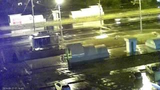 Пример видео, снятого на IP камеру 1 MPx (ночное)