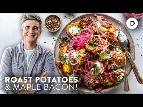 THE POTATO SALAD! CRISPY Maple Bacon & Roast Potato Salad Recipe!
