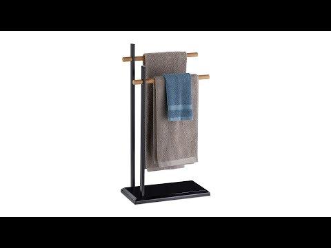 Schwarzer Handtuchhalter zweiarmig