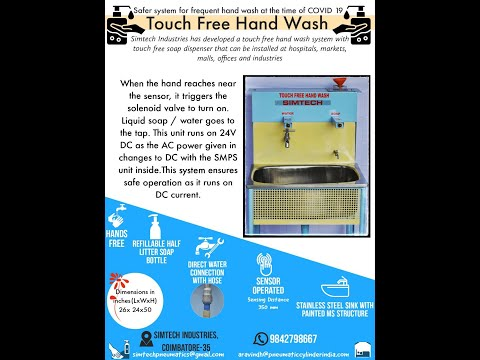 Touch Free Hand Wash System/Contact Less Hand Wash