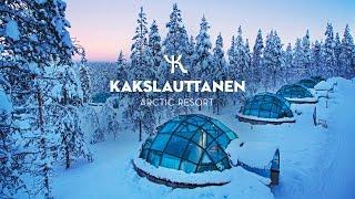 Kakslauttanen Arctic Resort in wintertime: