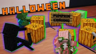 Monster School in Real Life Episode 12: Halloween Party - Minecraft Animation