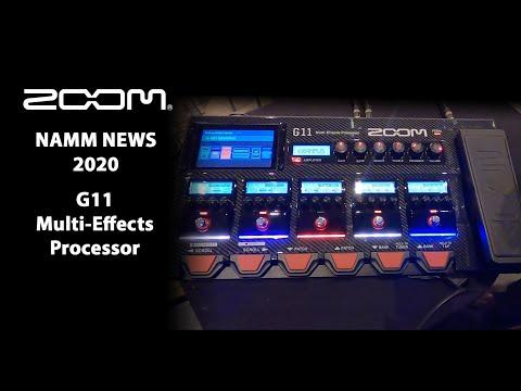 ה-G11 לגיטרה הוא מולטי-אפקט הדגל של Zoom
