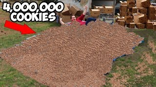 Giving My 4,000,000th Subscriber 4,000,000 Cookies