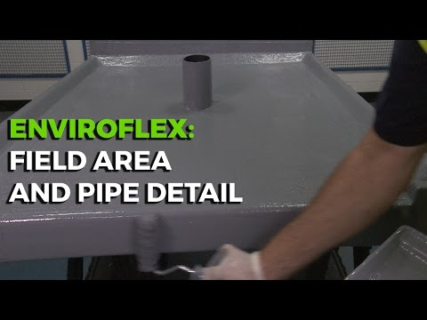 Flat Roof Pipe Detail and Field Area with Enviroflex