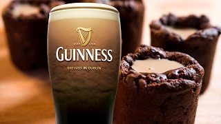 Irish Car Bomb Brownie Shots