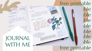 JOURNAL WITH ME Using Only FREE PRINTABLE | Places To Travel In The Philippines