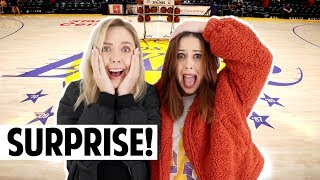 SURPRISE Lakers Tickets!   Vlogmas Day 5
