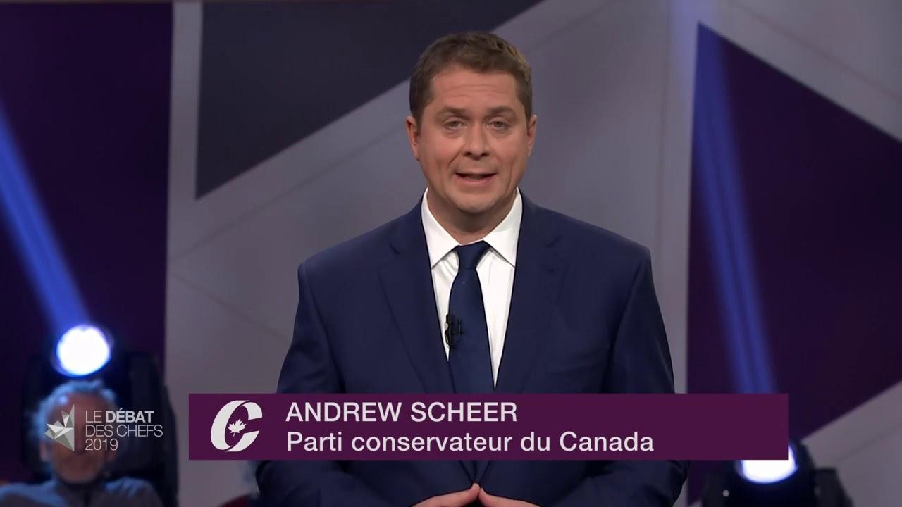 Andrew Scheer répond à la question d'un citoyen sur les mesures environnementales