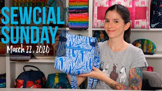 Sewcial Sunday - New Free Bag Pattern - Tower Crossbody Bag