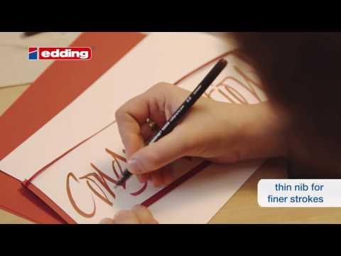 """Edding Calligraphy Stifte & Lackmarker - Tutorial  """"Die schöne Art zu schreiben"""""""