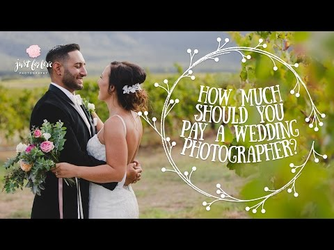 Two things that can change the cost of a Wedding Photographer
