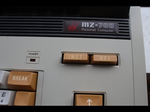 SHARP MZ-700  Restoration  (model MZ-722  1984)