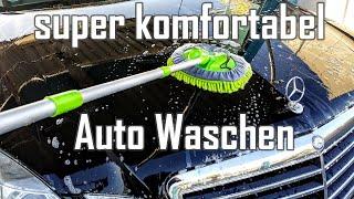 Mikrofaser Autowaschbürste im Test || Auto schnell und komfortabel mit Waschbesen waschen