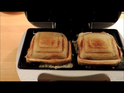 Cheese and ham toast in a sandwich maker, Melissa toaster