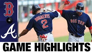 Red Sox hit four homers in 9-1 win vs. Braves | Red Sox-Braves Game Highlights 9/27/20