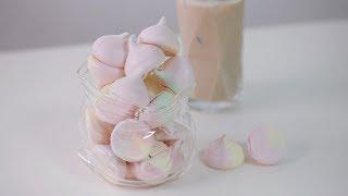 파스텔 소프트 머랭쿠키 만들기 (+먹는소리😋) Pastel Meringue Cookies Recipe | 한세 HANSE