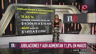Jubilaciones Y AUH Aumentan 11,8% En Marzo