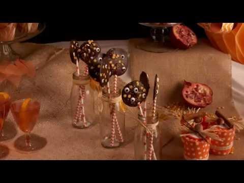 Halloweenrecept voor chocolade herfstlolly's