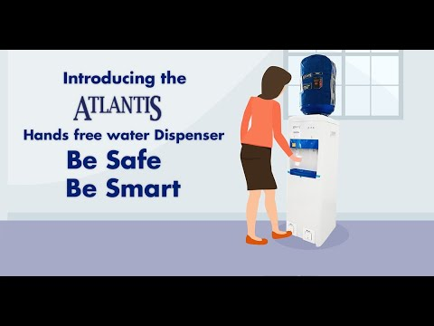 Atlantis Hands Free Foot Operated Hot And Cold Water Dispenser